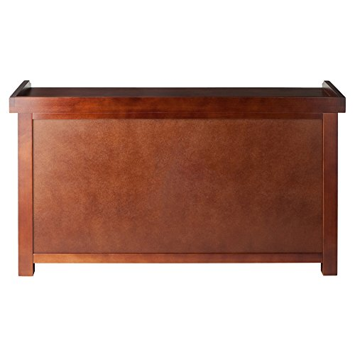 Winsome Wood Milanwood Storage Bench In Antique Walnut