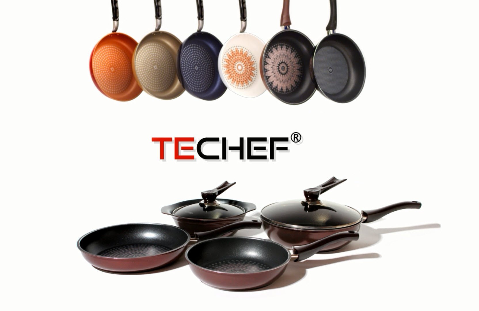Techef Blooming Flower Frying Pan With Teflon Platinum Non