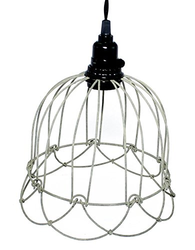 wire bell pendant lamp in barn roof finish