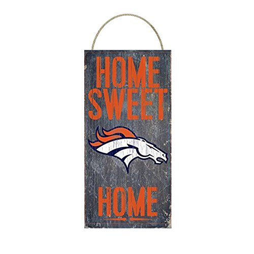 Denver Broncos Home Sweet Distressed Vintage Sign For Football Sports Fan Wall Decor Choose Your
