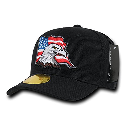 Nothing Nowhere Curve Bill Usa Eagle Cap Black