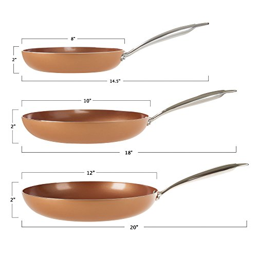 10 Inch Double Layer Non Stick Frying Pan With Copper