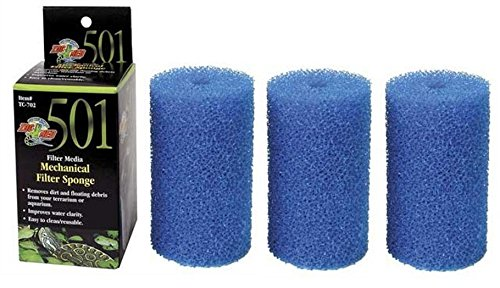 Zoo Med Foam Blocks For 501 Turtle Filters 3 Pack