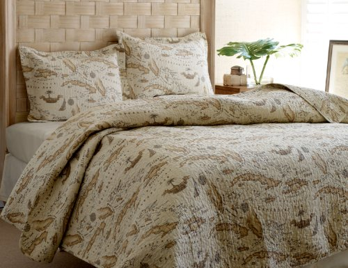 Tommy Bahama Map Quilt Set King