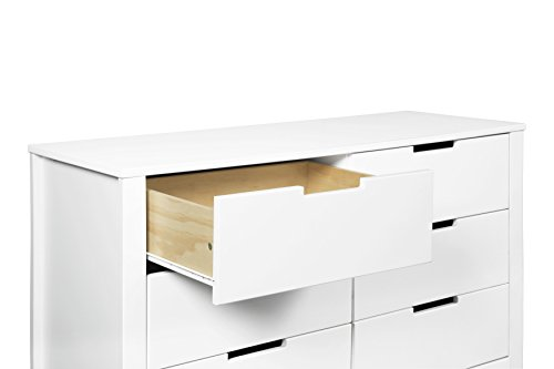 Carters By Davinci Colby 6 Drawer Double Dresser White