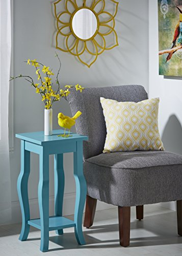 Kate And Laurel Lillian Wood Pedestal End Table Curved