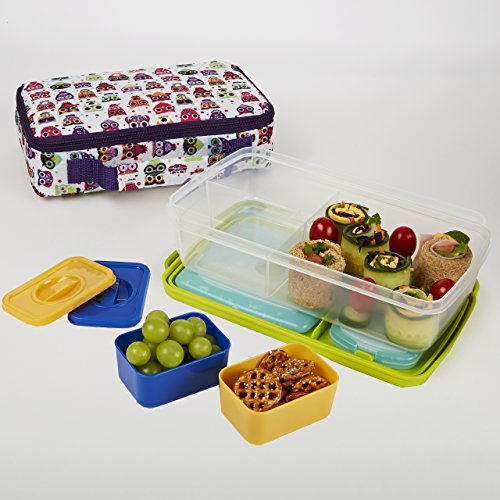 Fit Fresh Kids Bento Box Lunch Kit with Reusable Bpa-free