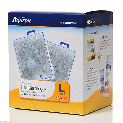 Aqueon Replacement Filter Cartridge Large 12 Pack