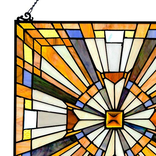 Pharaoha S Jeweled Stained Glass Panel 17 5 Inch