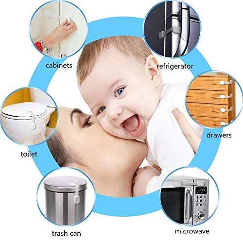 Vanble Child Safety Locks 6 Pack For Baby Proofing