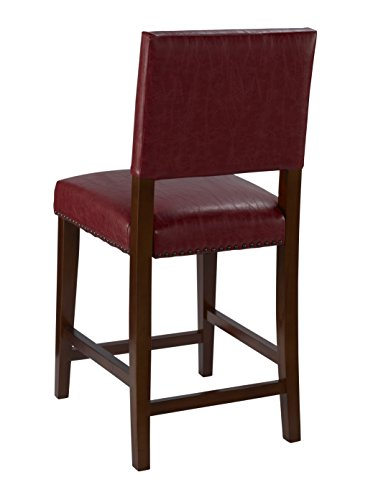 Linon Brook Counter Stool Red