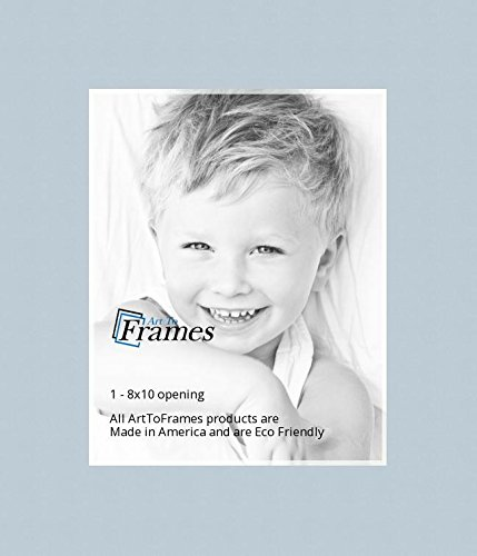 18x24 Fountain Blue Baby Custom Mat For Picture Frame With