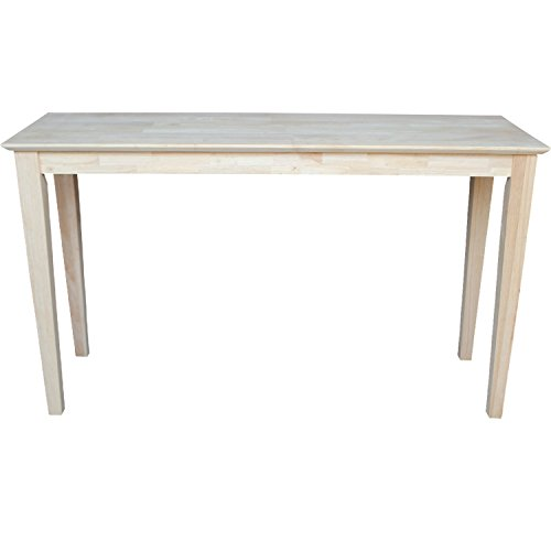 International Concepts Ot 9s Shaker Sofa Table Unfinished